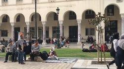 Θεσσαλονίκη: Άτυπος καταυλισμός προσφύγων και μεταναστών στην πλατεία