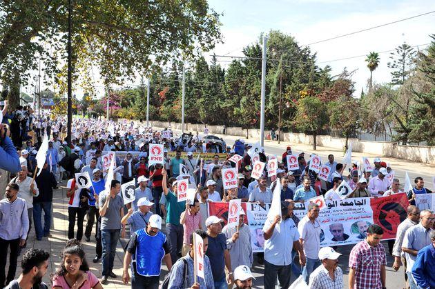 Des milliers d'enseignants ont manifesté leur colère dans une marche, ce dimanche, à