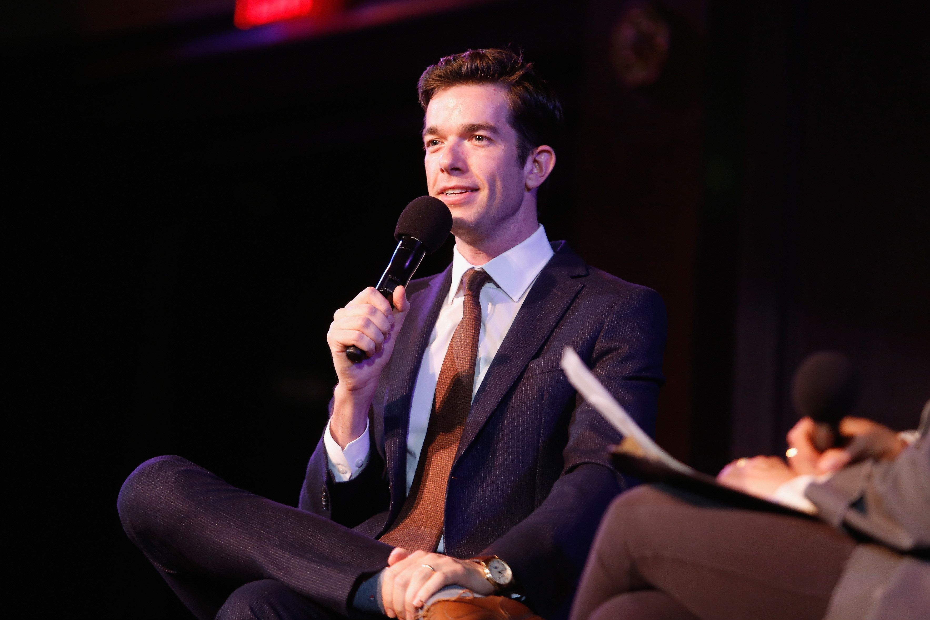 NEW YORK, NY - OCTOBER 06:  John Mulaney speaks on stage during the 2018 New Yorker Festival on October 6, 2018 in New York City.  (Photo by Thos Robinson/Getty Images for The New Yorker)