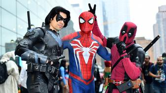 NEW YORK, NY - OCTOBER 06:  Cosplayers pose for a photo during New York Comic Con at Jacob Javits Center on October 6, 2018 in New York City.  (Photo by Noam Galai/Getty Images for New York Comic Con)