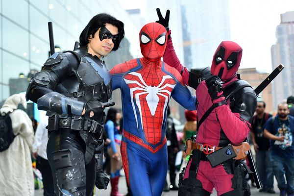 Nightwing, Spider-Man and Deadpool.