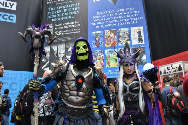 He-Man's nemesis Skeletor and Evil-Lyn.