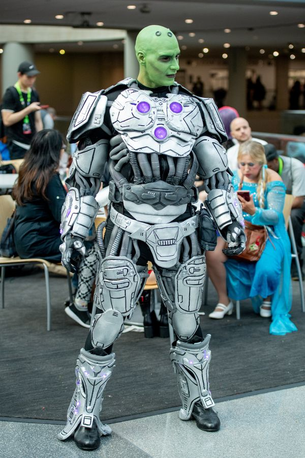 DC Comics' character Brainiac.