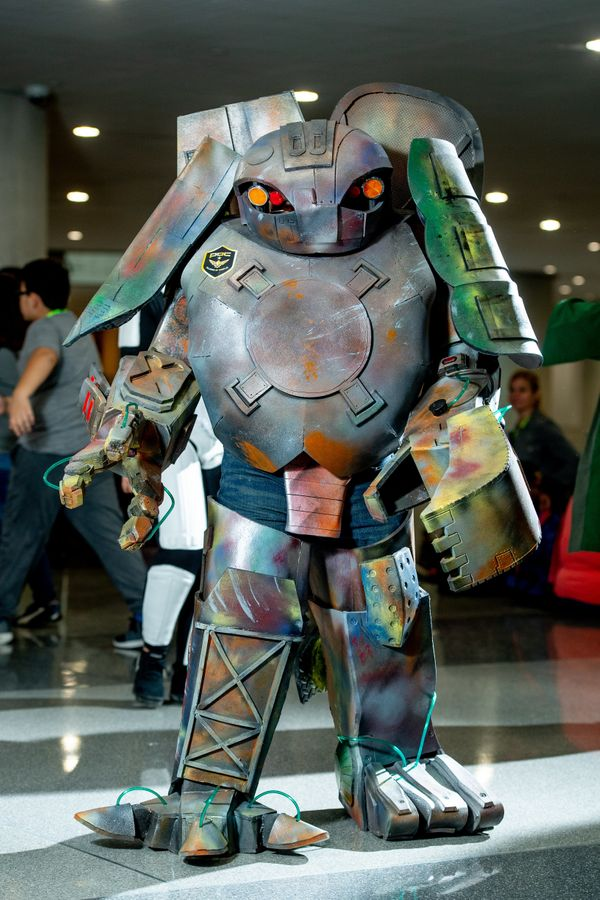 A massive robot outfit.