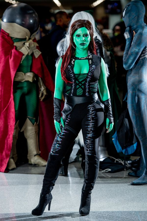 """Gamora of """"Guardians of the Galaxy."""""""