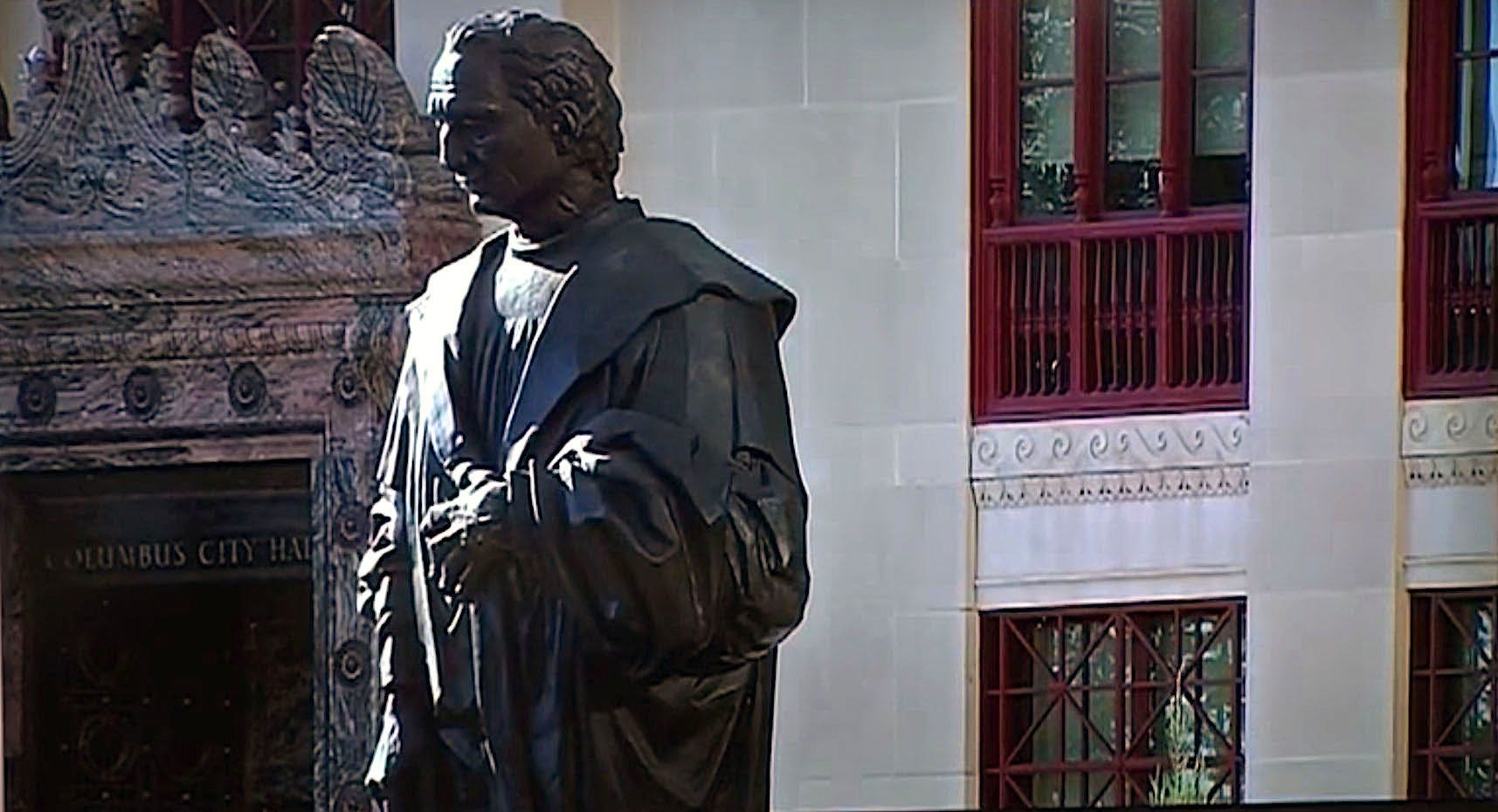 City hopes new signs will deter vandalism of Christopher Columbus statue