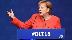 Merkel beim Deutschlandtag: Ein Satz der Kanzlerin gibt Rätsel