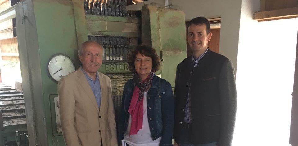 Heinz Kaiser und Martin Kreutz zusammen mit der SPD-Landtagsabgeordneten Ruth