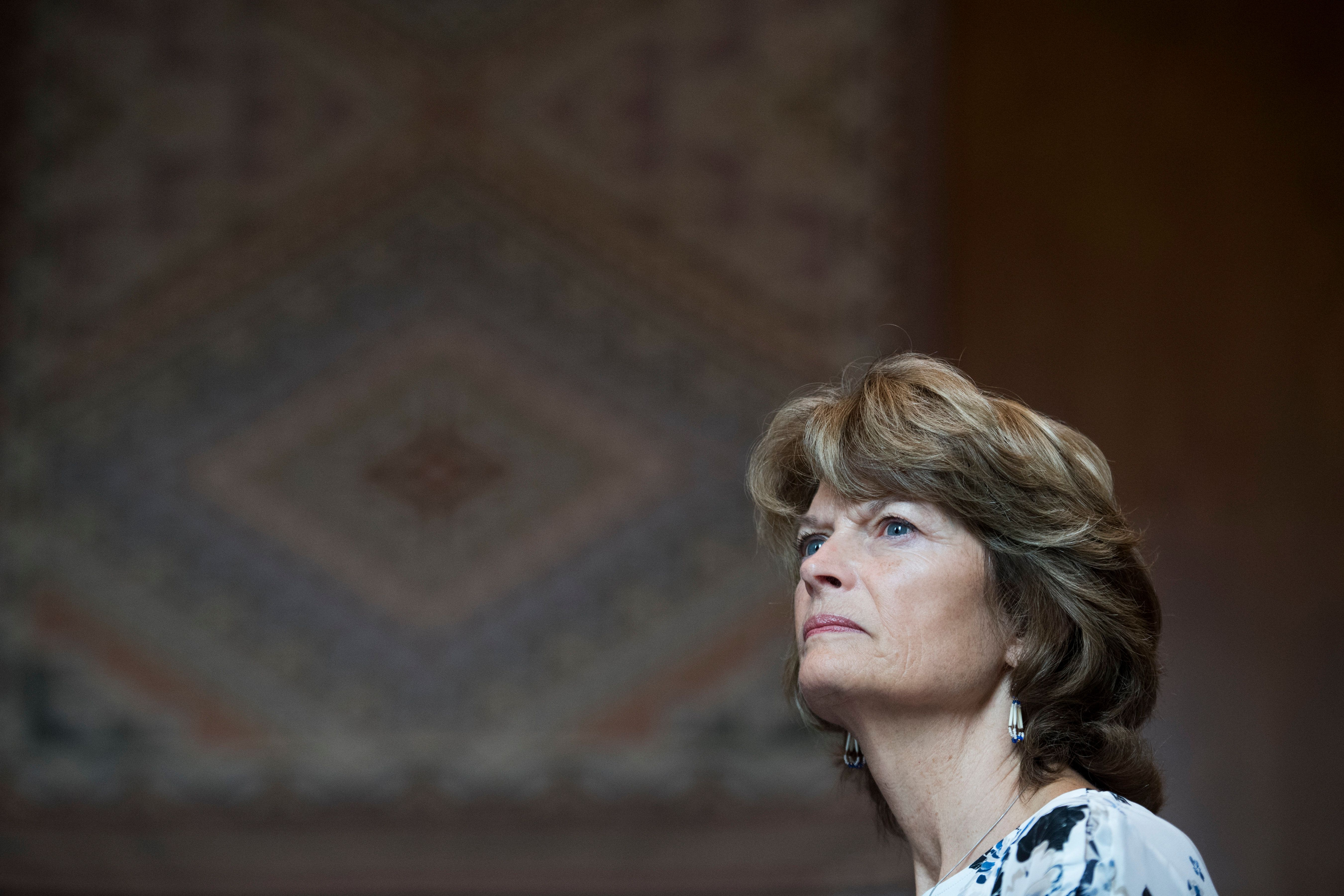 UNITED STATES - SEPTEMBER 12: Sen. Lisa Murkowski, R-Alaska, speaks during the Tribal Unity Impact Days hosted by the National Congress of American Indians in Dirksen Building on September 12, 2018. (Photo By Tom Williams/CQ Roll Call)