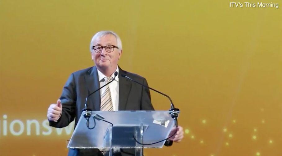 EU-Kommissionspräsident Juncker veräppelt Großbritanniens Premierministerin May mit