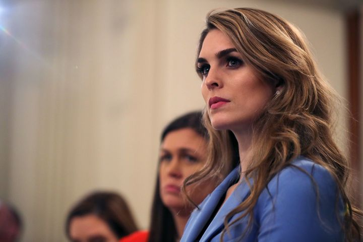 Hope Hicks served in the White House as communications director and Trump's strategic communications director from