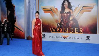 HOLLYWOOD, CA - MAY 25:  Actress Gal Gadot attends the World Premiere of Warner Bros. Pictures' 'Wonder Woman' at the Pantages Theatre on May 25, 2017 in Hollywood, California.  (Photo by Barry King/Getty Images)