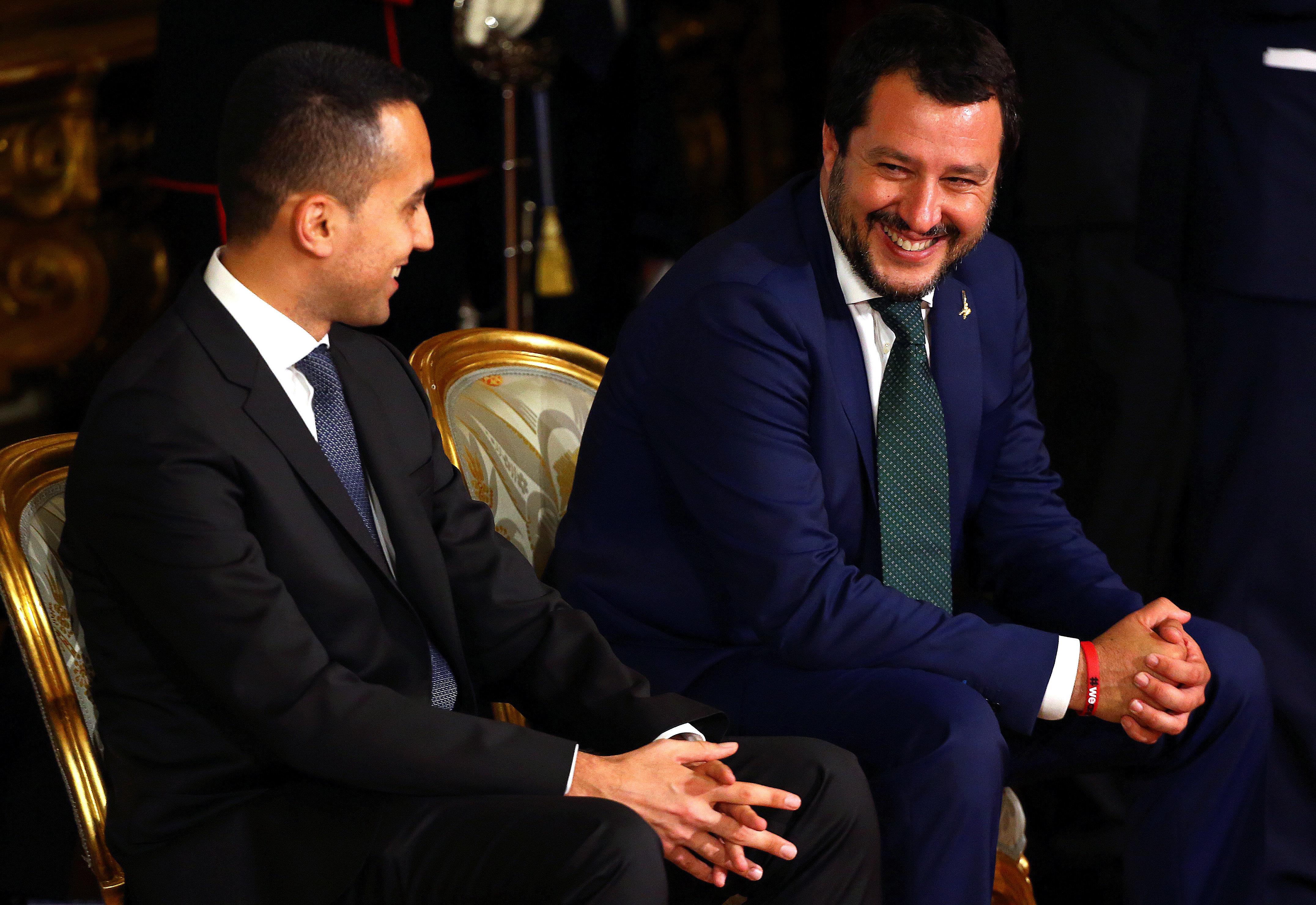 Italiens Vize-Premiers: Wirtschaftsminister Luigi Di Maio undInnenminister Matteo