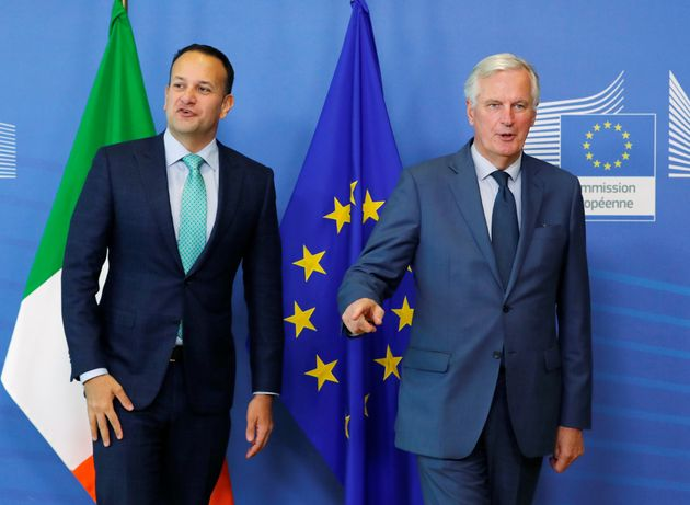 Ireland's Prime Minister Leo Varadkar and European Union's chief Brexit negotiator Michel