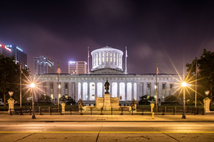 The Ohio Statehouse in Columbus. Ohioans will decide on sentencing reform issues in November.