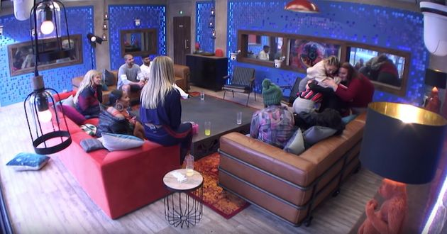 The housemates gave Cameron a warm reception after his