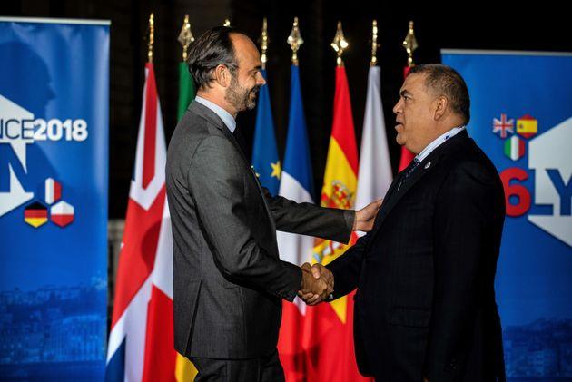 Le Premier ministre français et ministre de l'Intérieur par intérim Edouard Philippe...
