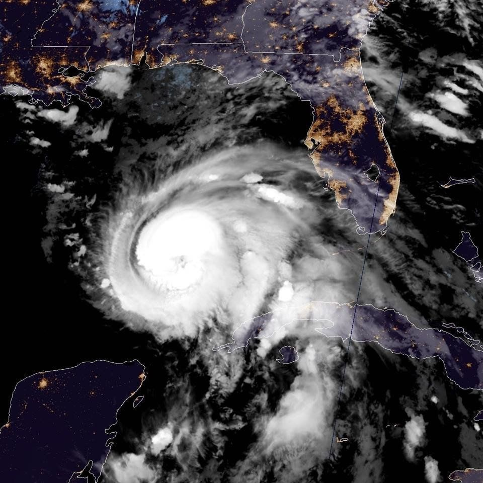 Florida coast evacuated as hurricane strengthens into Category 2 storm