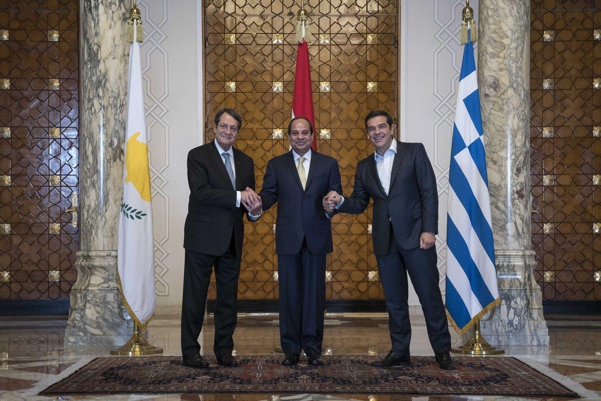 Συμμετοχή Τσίπρα στην Τριμερή Σύνοδο Ελλάδας - Κύπρου -