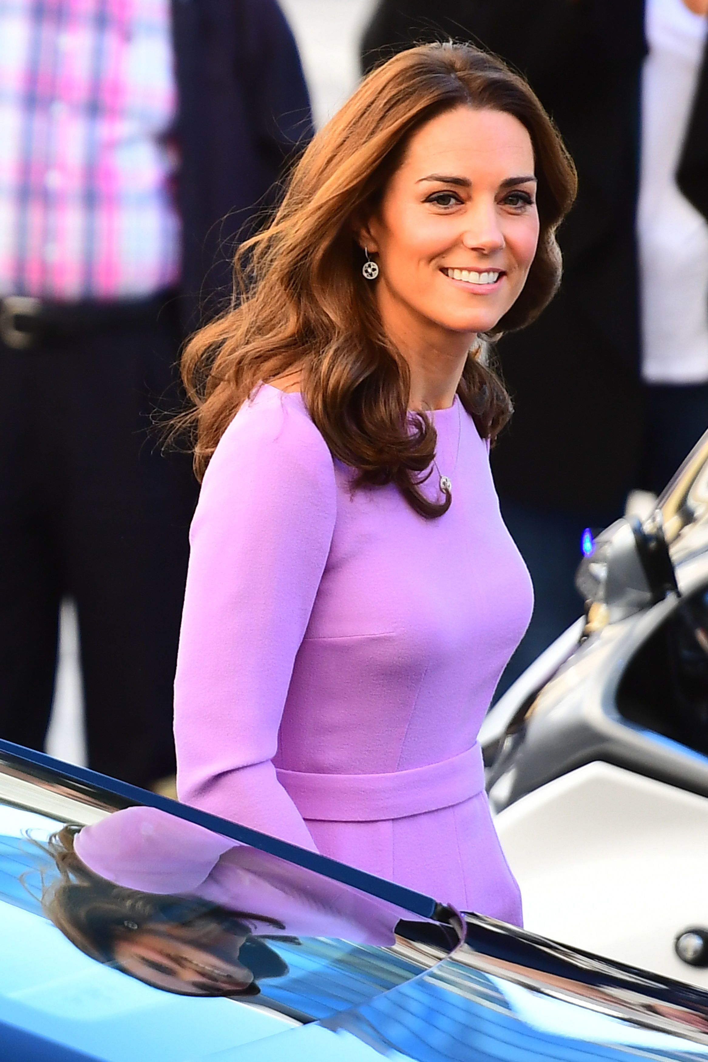 The Duchess of Cambridge arrives to attend the Global Ministerial Mental Health Summit at County Hall in London.