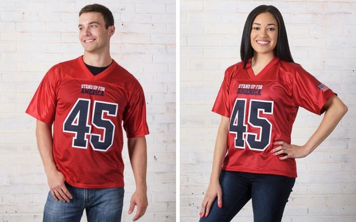 The Stand Up For America jerseys sell for $99.