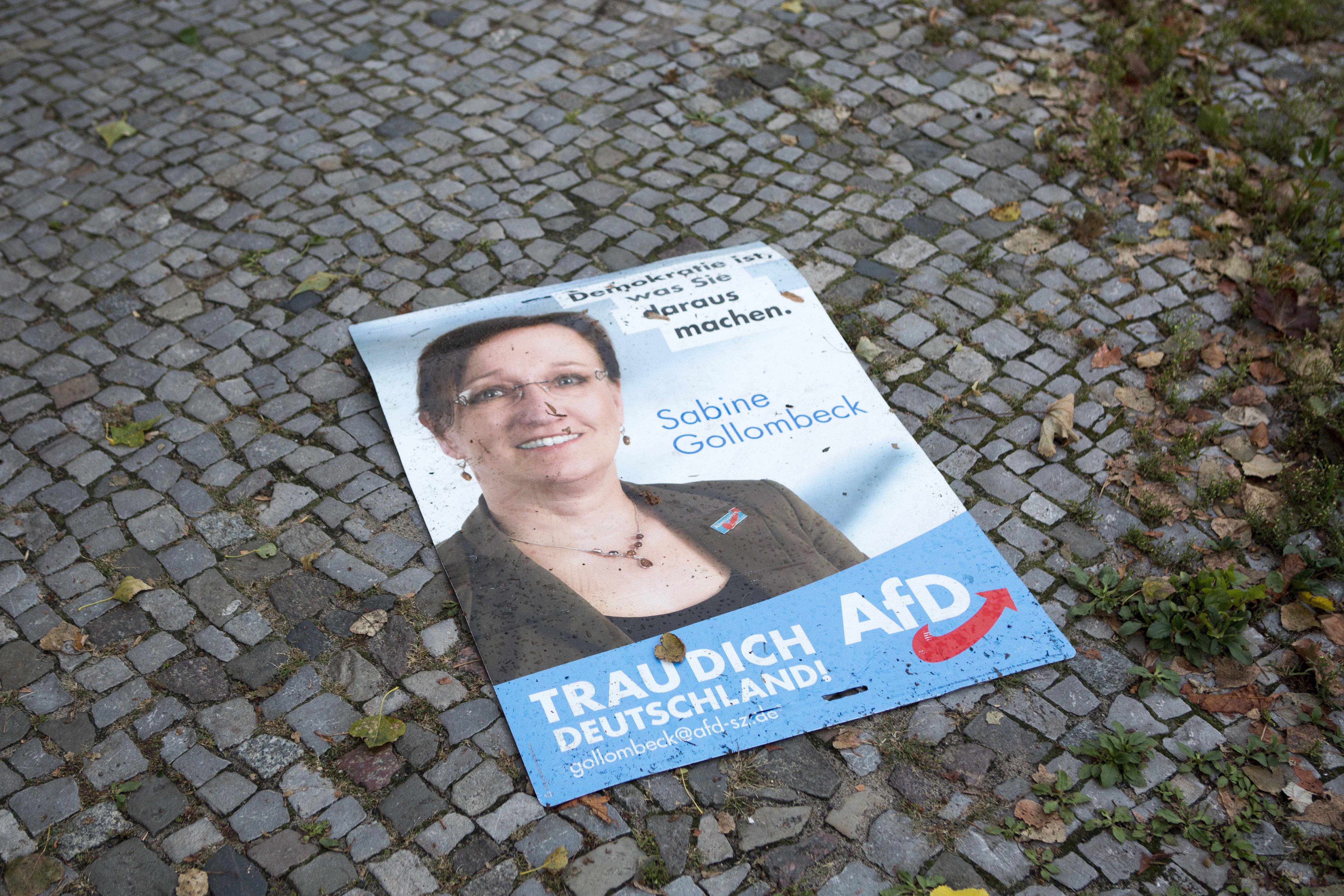 Wahlkampf in Bayern: Darum zerstört eine AfD-Kandidatin Plakate ihrer eigenen Partei