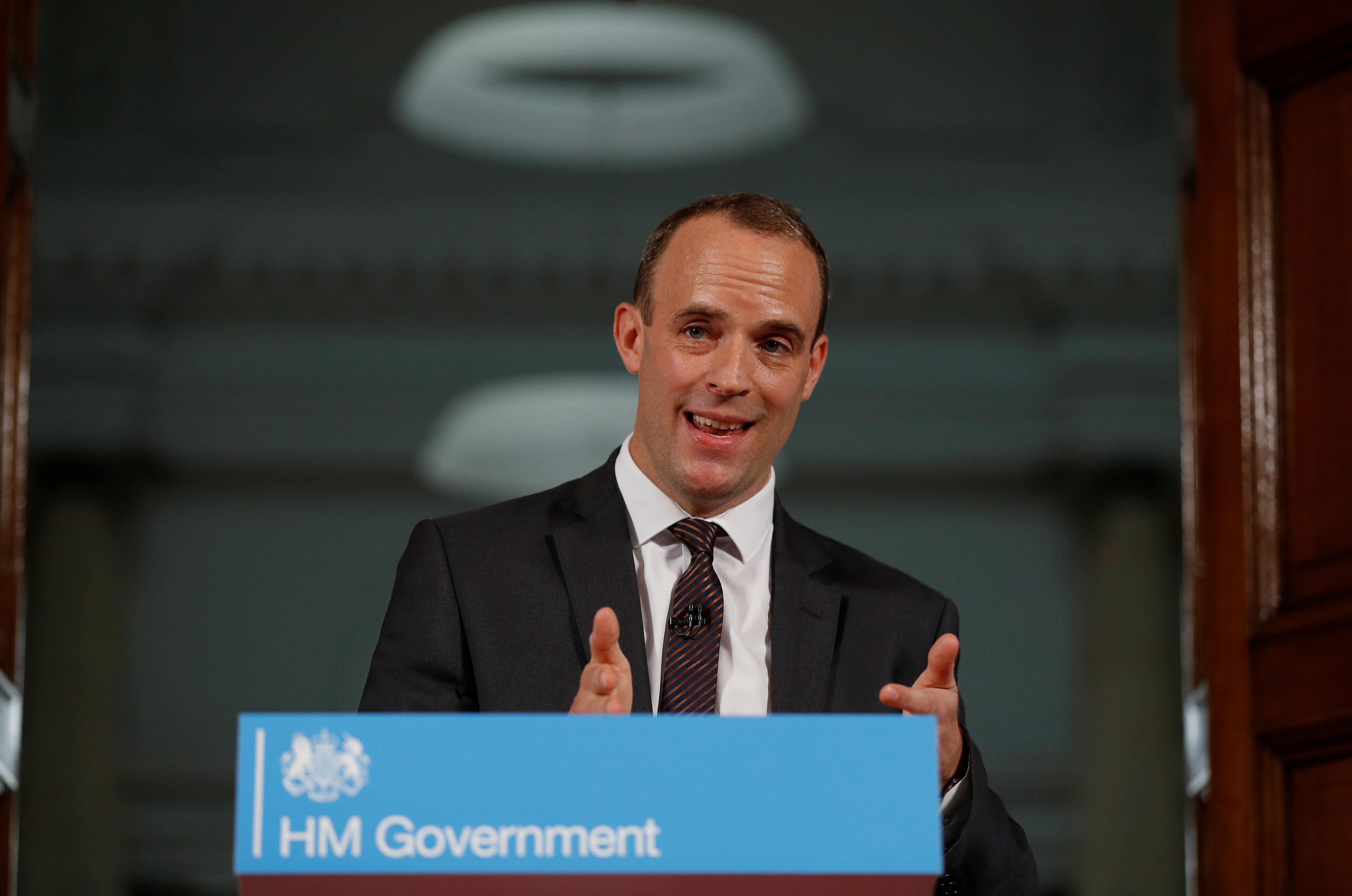 Brexit Secretary Dominic Raab