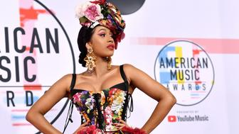 LOS ANGELES, CA - OCTOBER 09: Cardi B attends the 2018 American Music Awards at Microsoft Theater on October 9, 2018 in Los Angeles, California.  (Photo by Emma McIntyre/Getty Images For dcp)