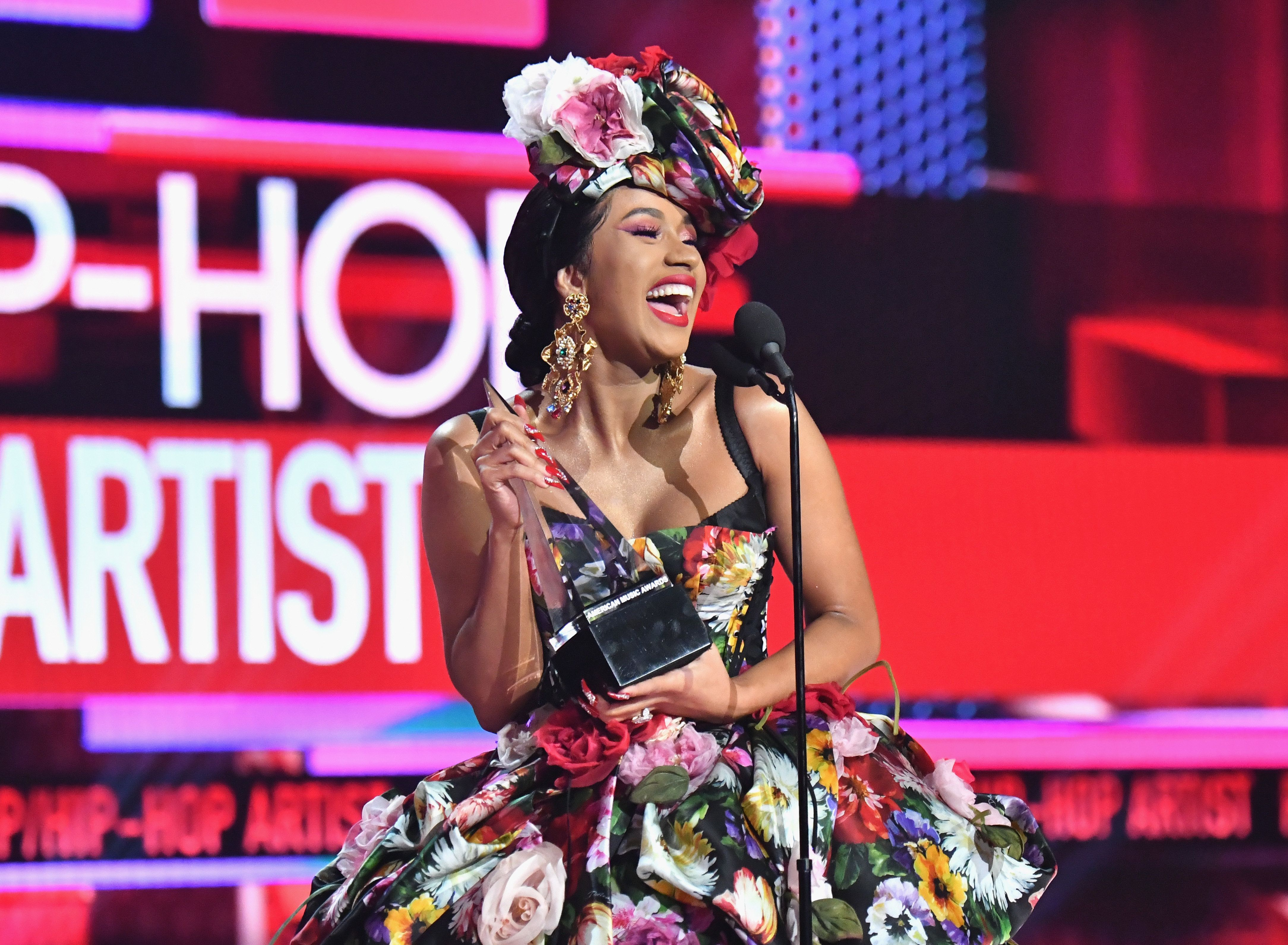 Cardi B delivers a message to her haters.