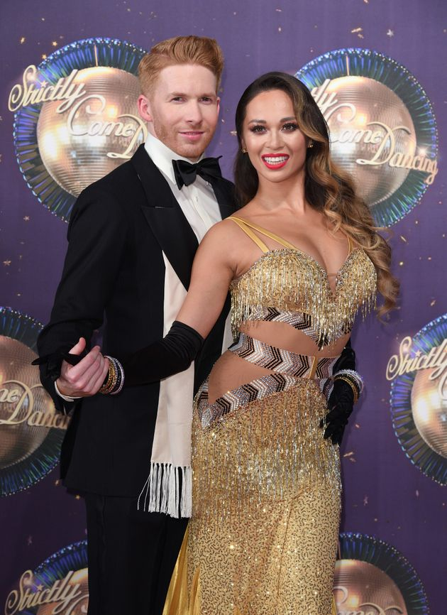 Neil and Katya Jones at last year's 'Strictly' red carpet