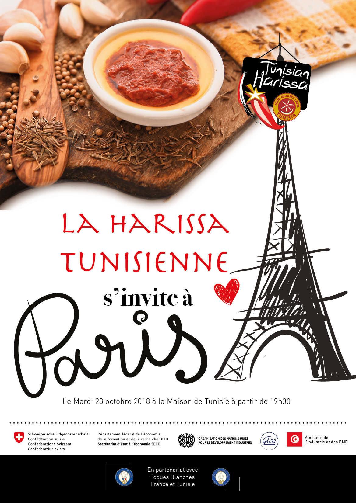 La Harissa tunisienne à l'honneur à Paris le 23 octobre