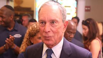 PEMBROKE PINES, FL - OCTOBER 07:  Former New York City Mayor Michael Bloomberg speaks at a political event attended by Florida Democratic gubernatorial candidate Andrew Gillum at the Century Pines Jewish Center on October 18, 2018 in Pembroke Pines, Florida. Polls show Gillum, the mayor of Tallahassee, and Republican candidate Ron DeSantis in a statistical dead heat ahead of the November election.  (Photo by Joe Raedle/Getty Images)
