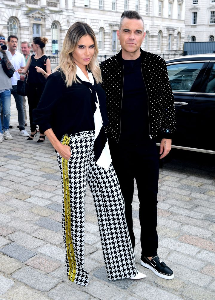 Ayda Field and Robbie Williams will also be at the Royal Wedding.