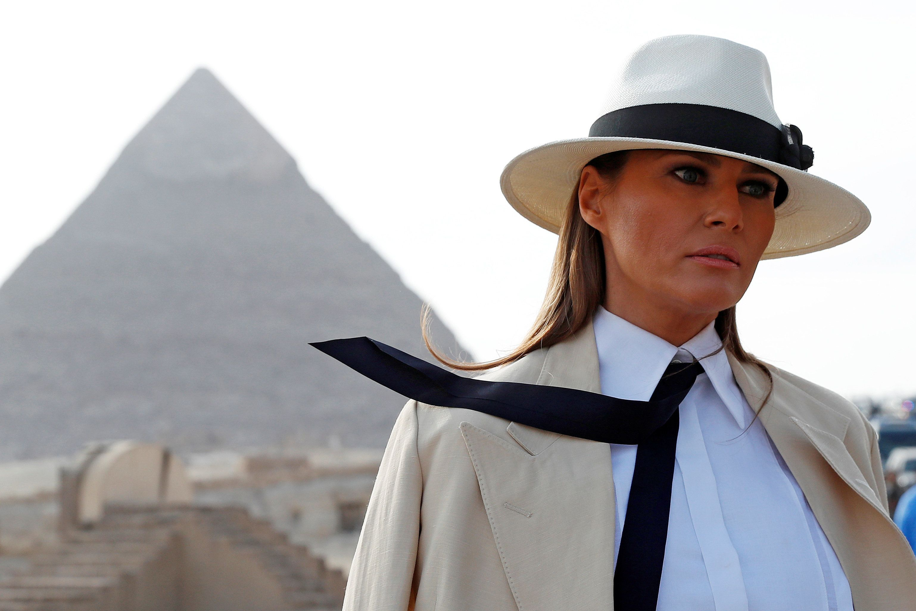 La primera dama de Estados Unidos, Melania Trumpm en El Cairo, Egipto, el sábado 6 de