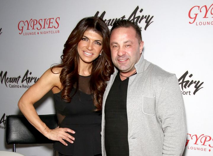 Teresa Giudice and Joe Giudice at an event together in 2016.