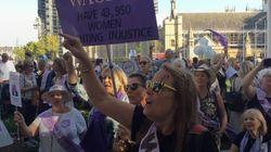 Women Stop Traffic In Westminster Over