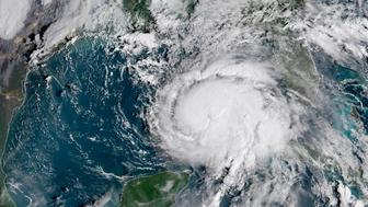 Hurricane Michael is seen in this National Oceanic and Atmospheric Administrations's Geostationary Operational Environmental Satlellite (NOAA GOES-East satellite) image in the Gulf of Mexico, October 9, 2018.     Courtesy NOAA GOES-East/Handout via REUTERS       ATTENTION EDITORS - THIS IMAGE WAS PROVIDED BY A THIRD PARTY