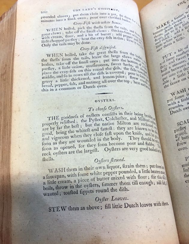 The instructions for oyster loaves in the 1801 edition of Charlotte Mason's Lady's