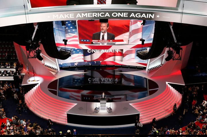 Falwell speaks at the Republican National Convention in Cleveland on July 21, 2016.