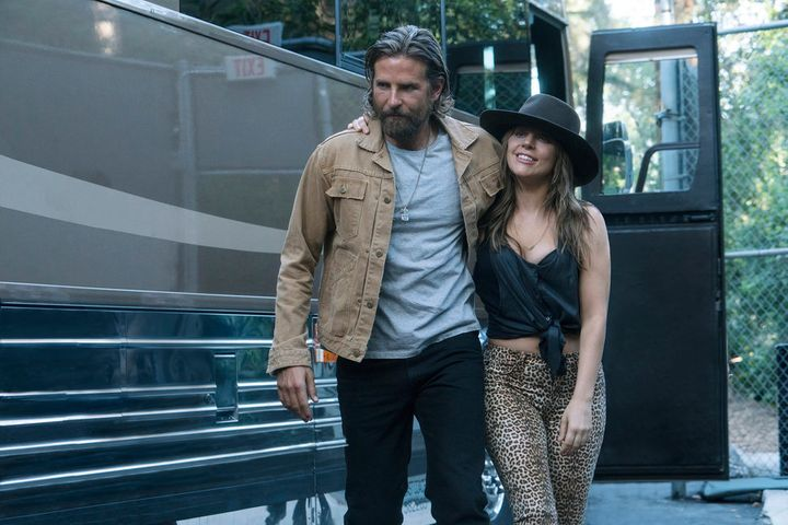 """An actual photo of the authors of this piece when they finally settled on a review of """"A Star Is Born."""""""