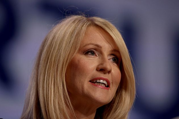 Work and Pensions Secretary Esther McVey speaks at the Conservative Party annual