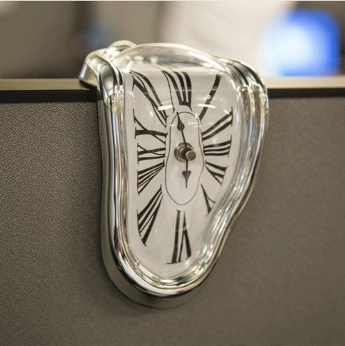 "Give this <a href=""https://www.meltingclock.co/"" target=""_blank"">melting clock</a>, and the surrealist in your life is sure t"