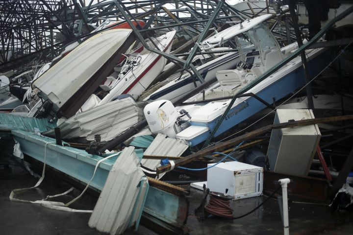 A storage warehouse in Panama City Beach took major damage from the storm.
