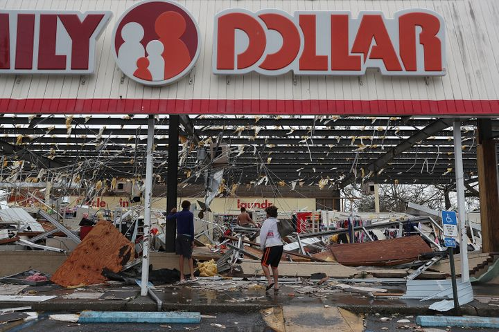 At least one person died in the hurricane, but many homes and businesses were damaged.