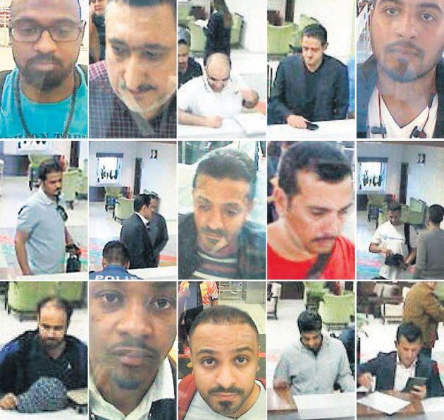 터키 정부가 10일 현지 언론에 공개한 자말 카쇼기 실종 사건 관련 용의자들의 모습. 해당 사진은 터키 이스탄불의 아타튀르크 공항에서 촬영된 것들로, 터키 정부는 사우디 국적의 용의자들이...