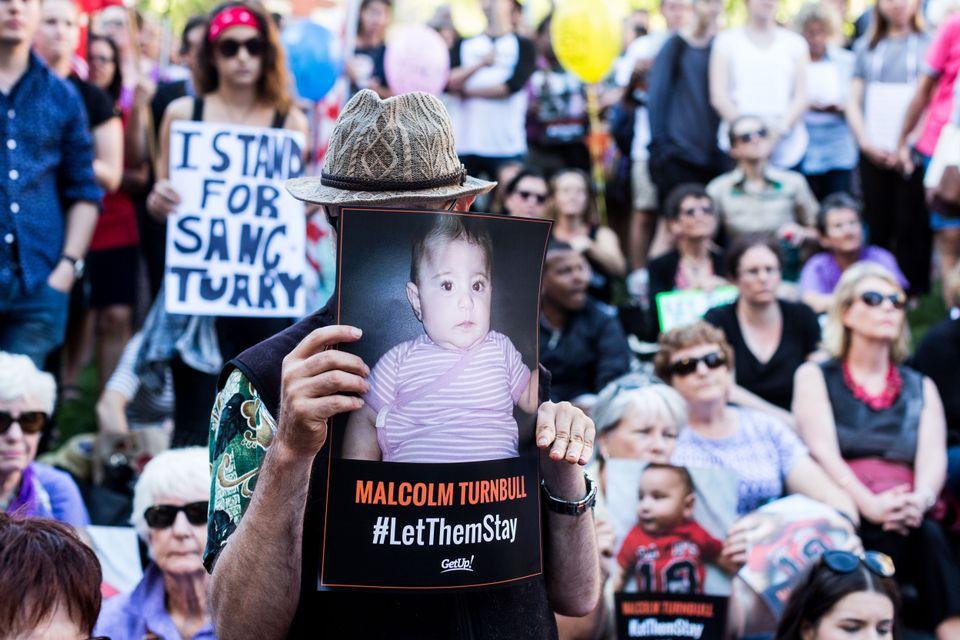 Διαδήλωση στην Αυστραλία...