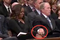 Michelle Obama and George W. Bush
