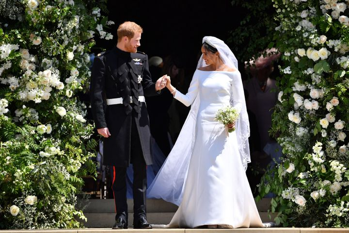The Duke and Duchess of Sussex on their wedding day.