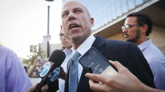 LOS ANGELES, CA - SEPTEMBER 24:  Michael Avenatti, attorney for Stephanie Clifford, also known as adult film actress Stormy Daniels, speaks to reporters as he leaves the U.S. District Court for the Central District of California on September 24, 2018 in Los Angeles, California. Avenatti claims to have information pertaining to allegations concerning Supreme Court nominee Brett Kavanaugh.  (Photo by Mario Tama/Getty Images)