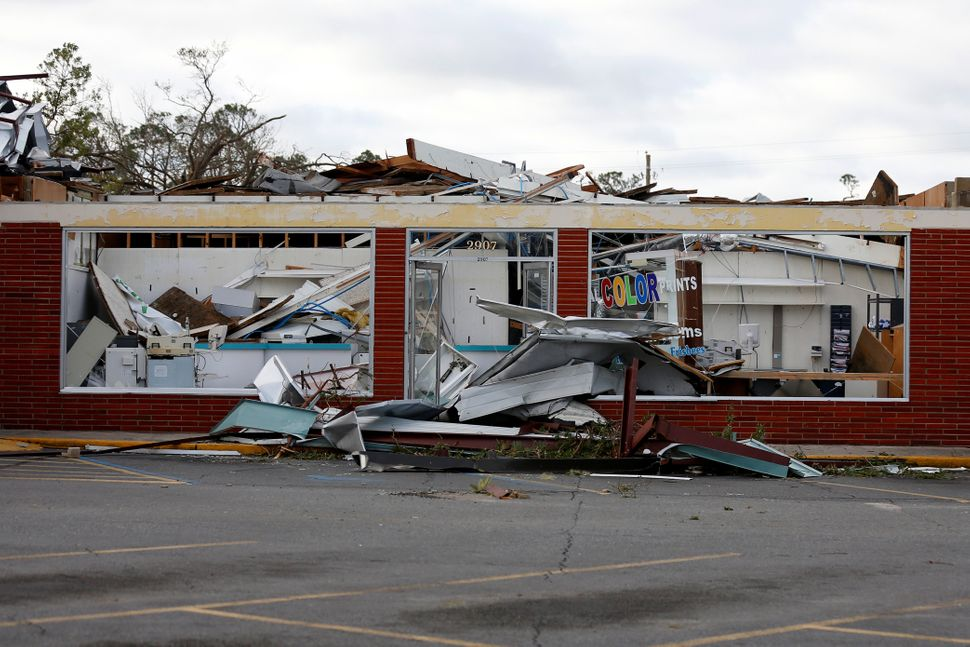 Buildings damaged in Panama City,